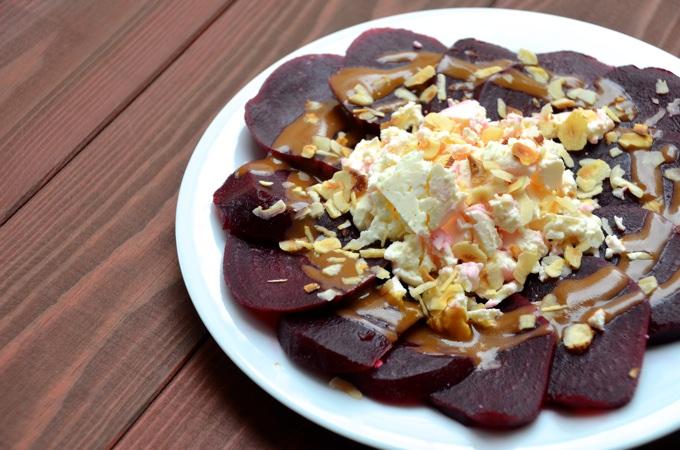 Rote Bete - Schafskäse - SalatRote Bete - Schafskäse - Salat