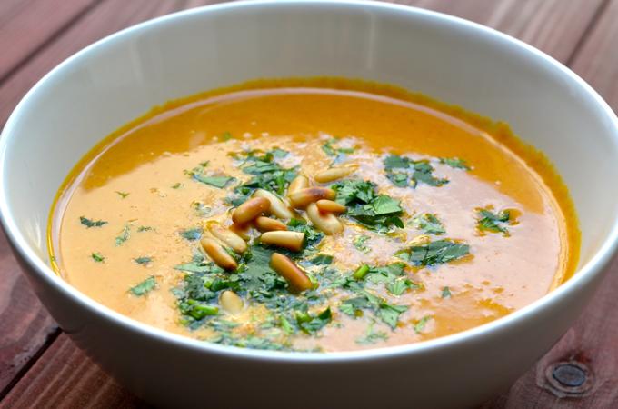 Süßkartoffeln Kokos Suppe
