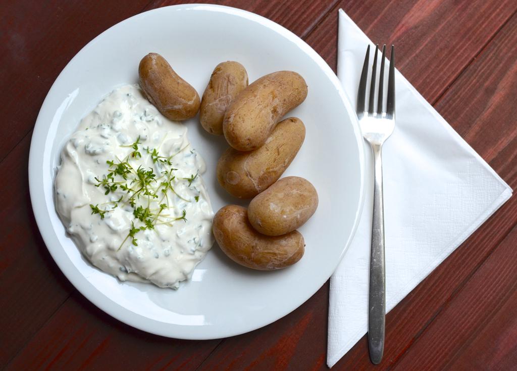Kartoffeln mit Salzkruste